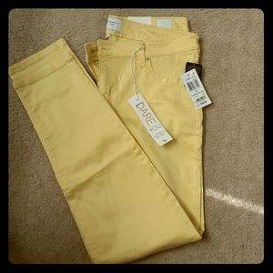 Celebrity Pink Yellow Skinny Jeans
